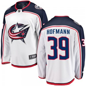 Gregory Hofmann Columbus Blue Jackets Men's Fanatics Branded White Breakaway Away Jersey