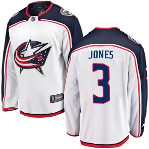 Seth Jones Columbus Blue Jackets Men's Fanatics Branded White Breakaway Away Jersey