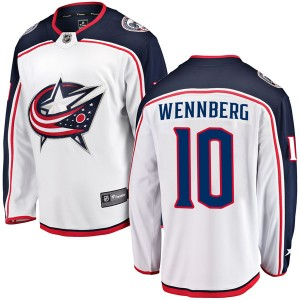 Alexander Wennberg Columbus Blue Jackets Men's Fanatics Branded White Breakaway Away Jersey