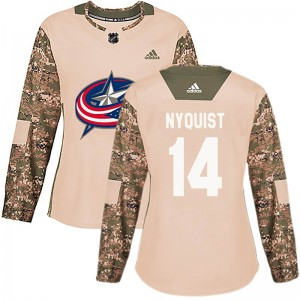 Gustav Nyquist Columbus Blue Jackets Women's Adidas Authentic Camo Veterans Day Practice Jersey