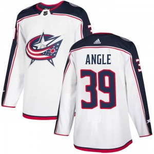 Tyler Angle Columbus Blue Jackets Men's Adidas Authentic White Away Jersey