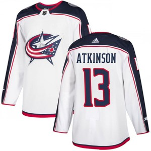 Cam Atkinson Columbus Blue Jackets Men's Adidas Authentic White Away Jersey