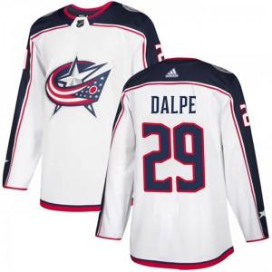 Zac Dalpe Columbus Blue Jackets Men's Adidas Authentic White Away Jersey