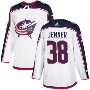 Boone Jenner Columbus Blue Jackets Men's Adidas Authentic White Away Jersey
