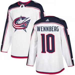 Alexander Wennberg Columbus Blue Jackets Men's Adidas Authentic White Away Jersey