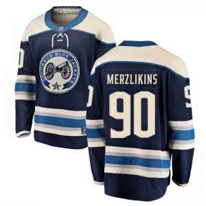 Elvis Merzlikins Columbus Blue Jackets Youth Fanatics Branded Blue Breakaway Alternate Jersey