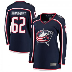 Alex Broadhurst Columbus Blue Jackets Women's Fanatics Branded Navy Breakaway Home Jersey