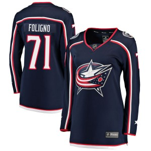 Nick Foligno Columbus Blue Jackets Women's Fanatics Branded Navy Breakaway Home Jersey