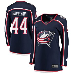 Vladislav Gavrikov Columbus Blue Jackets Women's Fanatics Branded Navy Breakaway Home Jersey