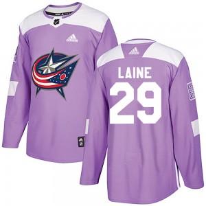 Patrik Laine Columbus Blue Jackets Men's Adidas Authentic Purple Fights Cancer Practice Jersey