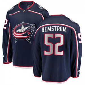 Emil Bemstrom Columbus Blue Jackets Youth Fanatics Branded Navy Breakaway Home Jersey