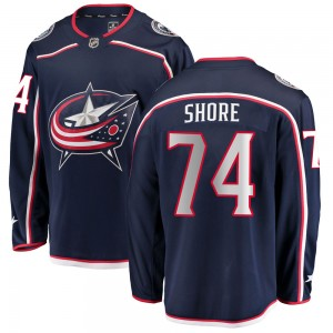 Devin Shore Columbus Blue Jackets Youth Fanatics Branded Navy ized Breakaway Home Jersey