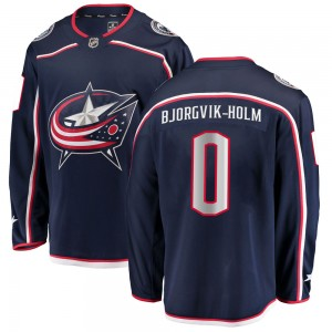 Ole Bjorgvik-Holm Columbus Blue Jackets Men's Fanatics Branded Navy Breakaway Home Jersey