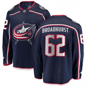Alex Broadhurst Columbus Blue Jackets Men's Fanatics Branded Navy Breakaway Home Jersey