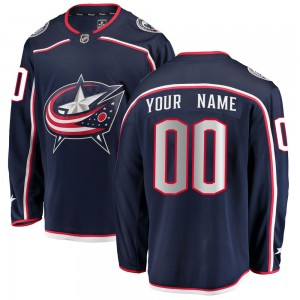 Men's Fanatics Branded Columbus Blue Jackets Customized Breakaway Navy Home Jersey