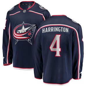 Scott Harrington Columbus Blue Jackets Men's Fanatics Branded Navy Breakaway Home Jersey