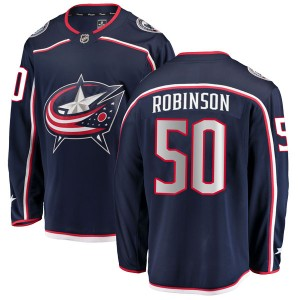 Eric Robinson Columbus Blue Jackets Men's Fanatics Branded Navy Breakaway Home Jersey