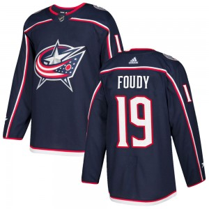 Liam Foudy Columbus Blue Jackets Youth Adidas Authentic Navy ized Home Jersey