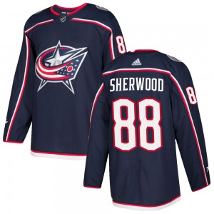 Kole Sherwood Columbus Blue Jackets Youth Adidas Authentic Navy Home Jersey