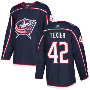 Alexandre Texier Columbus Blue Jackets Youth Adidas Authentic Navy Home Jersey
