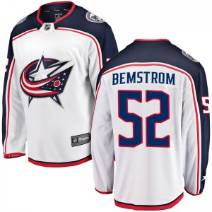 Emil Bemstrom Columbus Blue Jackets Youth Fanatics Branded White Breakaway Away Jersey