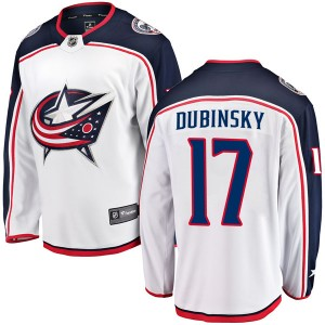 Brandon Dubinsky Columbus Blue Jackets Youth Fanatics Branded White Breakaway Away Jersey