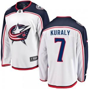 Sean Kuraly Columbus Blue Jackets Youth Fanatics Branded White Breakaway Away Jersey