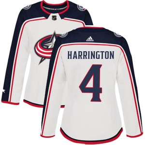 Scott Harrington Columbus Blue Jackets Women's Adidas Authentic White Away Jersey