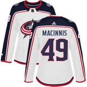 Ryan MacInnis Columbus Blue Jackets Women's Adidas Authentic White ized Away Jersey