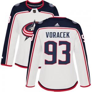 Jakub Voracek Columbus Blue Jackets Women's Adidas Authentic White Away Jersey