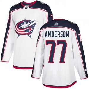Josh Anderson Columbus Blue Jackets Youth Adidas Authentic White Away Jersey