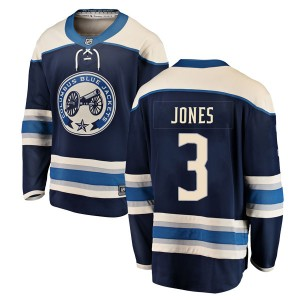Seth Jones Columbus Blue Jackets Men's Fanatics Branded Blue Breakaway Alternate Jersey