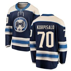 Joonas Korpisalo Columbus Blue Jackets Men's Fanatics Branded Blue Breakaway Alternate Jersey