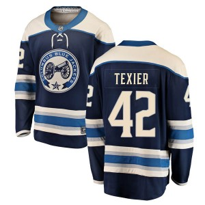 Alexandre Texier Columbus Blue Jackets Men's Fanatics Branded Blue Breakaway Alternate Jersey