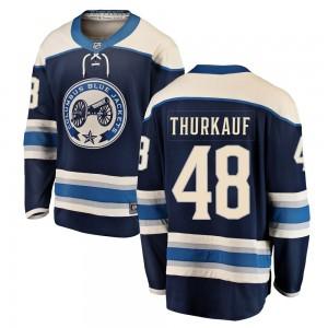 Calvin Thurkauf Columbus Blue Jackets Men's Fanatics Branded Blue Breakaway Alternate Jersey
