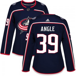 Tyler Angle Columbus Blue Jackets Women's Adidas Authentic Navy Home Jersey
