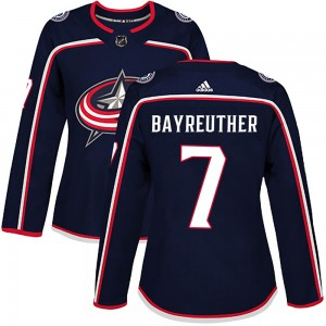 Gavin Bayreuther Columbus Blue Jackets Women's Adidas Authentic Navy Home Jersey