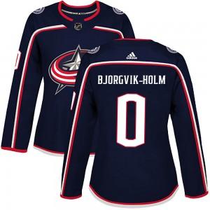 Ole Bjorgvik-Holm Columbus Blue Jackets Women's Adidas Authentic Navy Home Jersey