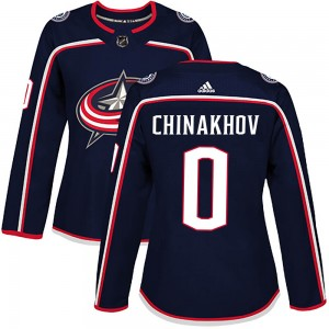 Yegor Chinakhov Columbus Blue Jackets Women's Adidas Authentic Navy Home Jersey