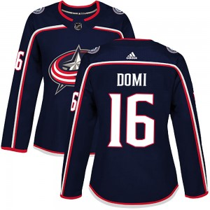 Max Domi Columbus Blue Jackets Women's Adidas Authentic Navy Home Jersey