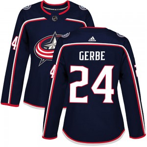 Nathan Gerbe Columbus Blue Jackets Women's Adidas Authentic Navy Home Jersey