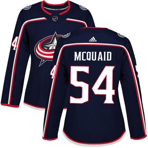 Adam McQuaid Columbus Blue Jackets Women's Adidas Authentic Navy Home Jersey