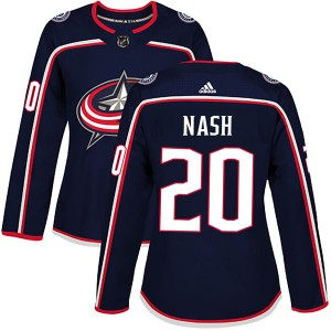 Riley Nash Columbus Blue Jackets Women's Adidas Authentic Navy Home Jersey
