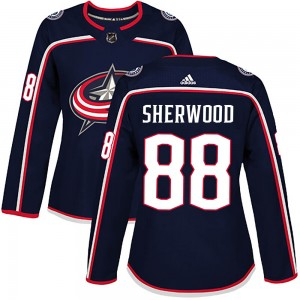 Kole Sherwood Columbus Blue Jackets Women's Adidas Authentic Navy Home Jersey