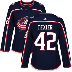 Alexandre Texier Columbus Blue Jackets Women's Adidas Authentic Navy Home Jersey