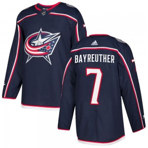 Gavin Bayreuther Columbus Blue Jackets Men's Adidas Authentic Navy Home Jersey