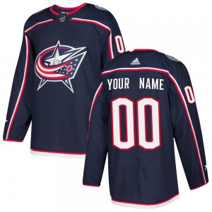 Men's Adidas Columbus Blue Jackets Customized Authentic Navy Home Jersey