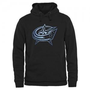 Columbus Blue Jackets Men's Black Rinkside Pond Hockey Pullover Hoodie