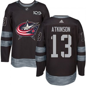 Cam Atkinson Columbus Blue Jackets Men's Adidas Authentic Black 1917-2017 100th Anniversary Jersey