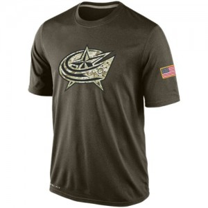 Columbus Blue Jackets Men's Nike Olive Salute To Service KO Performance Dri-FIT T-Shirt